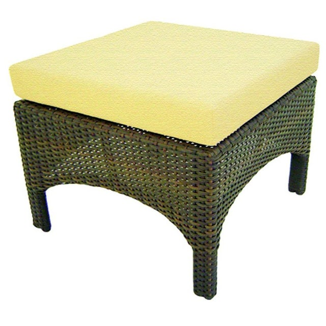 St. Barth Outdoor Handmade Java Ottoman - Image 1 of 2