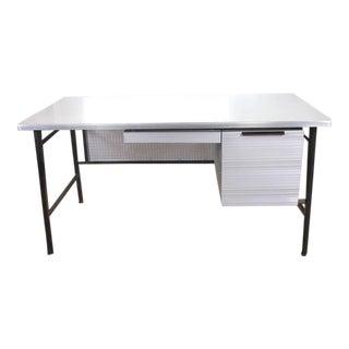 Goodform Studios Mid-Century Modern Italic Styling Desk Gordan Bunshaft Aluminum