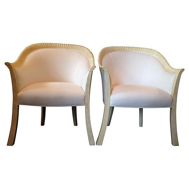 Image of Art Deco-Style Armchairs- A Pair