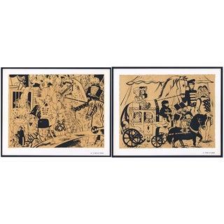 1944 Lithographs - Circus: # 34 & 73 - A Pair