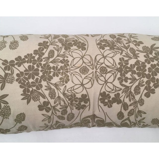 Original Folly Cove Designers Hand Block Printed Clover Pillow - Image 4 of 9