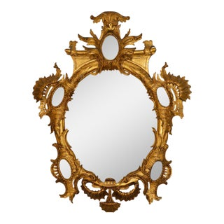 18th C. Rocaille Giltwood Mirror