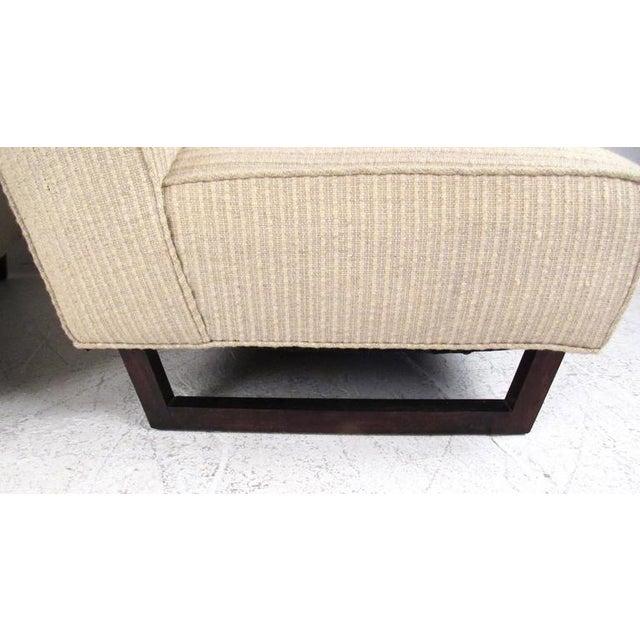 Vintage Modern Sled Leg Slipper Sofas - A Pair - Image 7 of 10