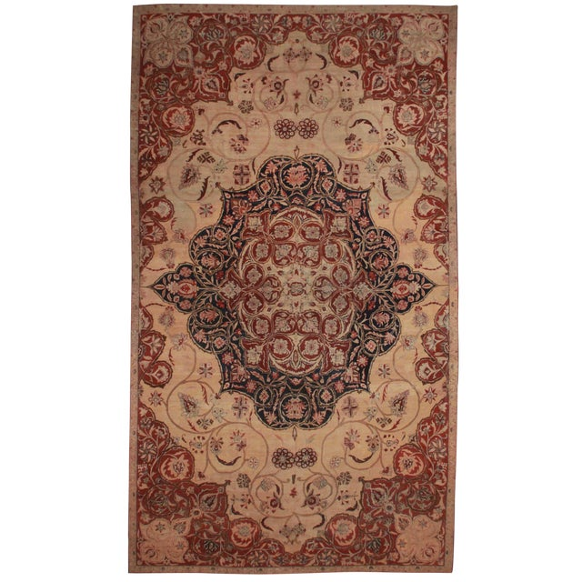 RugsinDallas Persian Hand Knotted Wool Kerman Rug- 10′8″ × 18′5″ - Image 1 of 2