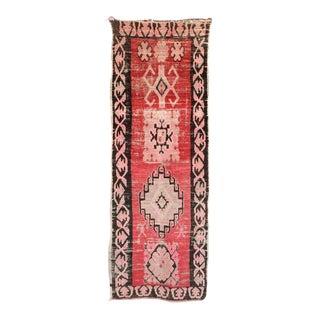 """Boujad Vintage Moroccan Rug - 3'4"""" x 9'8"""""""