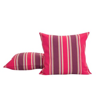 Custom French Pink Stripe Pillow