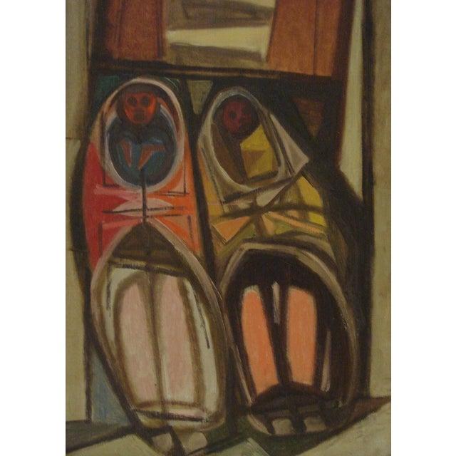 """Image of John Haley """"Navajos at Gallup"""" 1947 Painting"""