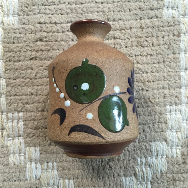 Mexican Hand-Painted Bud Vase - Image 5 of 9