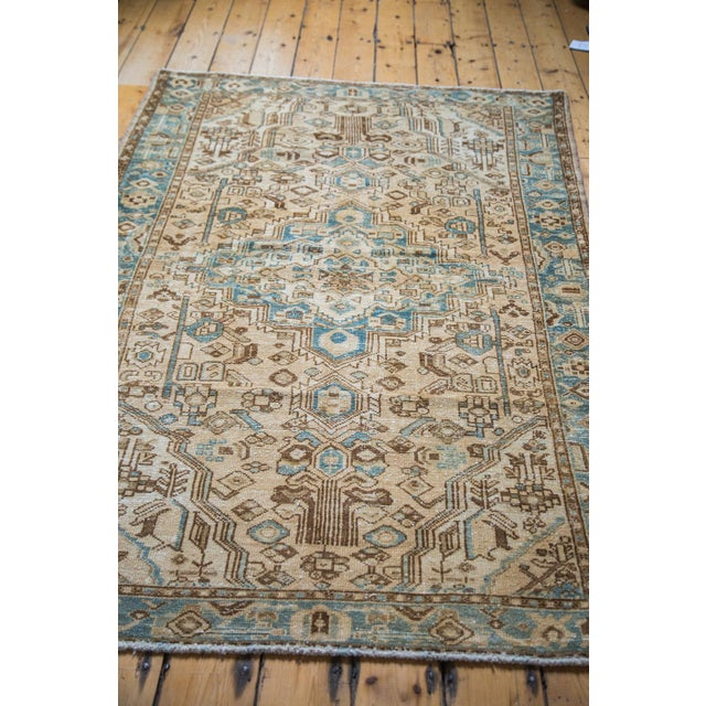 "Distressed Floral Hamadan Rug - 4'3"" x 6'10"" - Image 2 of 5"