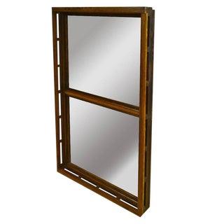 Early 1900s Oak Skylight Frame Mirror