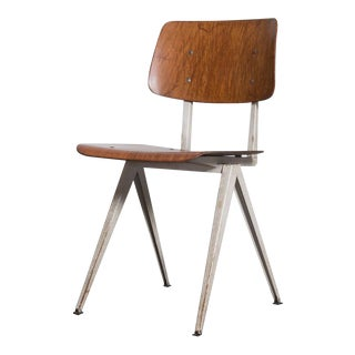 Prouve or Friso Kramer Style Plywood Industrial Chairs - Set of 12