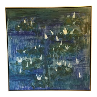Hemstad Water Lilies Oil on Canvas