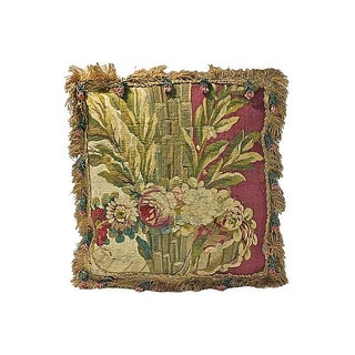 Vintage 18th Century French Aubusson Pillow