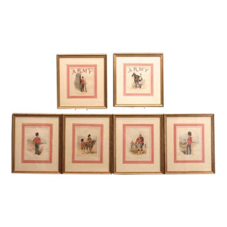 Matted British Military Lithographs - Set of 6