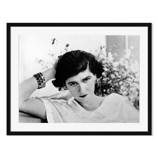 """French Designer Coco Chanel"" Framed Photography"