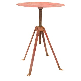Vintage Industrial Swivel Bistro Table