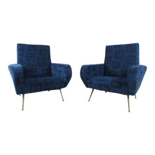 Exquisite Pair of Mid-Century Modern Italian Armchairs