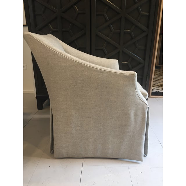 """Century Furniture Linen Skirted """"Coloney"""" Chair - Image 5 of 7"""