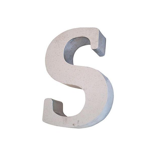 1970s Stainless Steel Marquee Letter S - Image 4 of 4