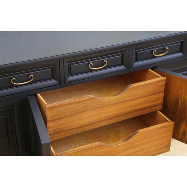 Mid Century Modern Black Dresser - Image 8 of 9