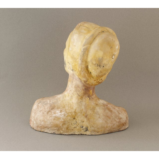 Image of Vintage Handmade Bust of a Woman