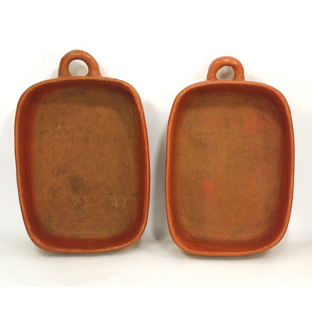 Image of Chilean Red Clay Baking Pans - A Pair
