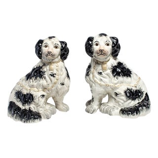 GOLD COLLARED STAFFORDSHIRE DOGS
