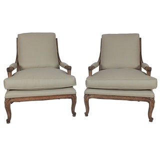 1930s Louis XVI Style Open Armchairs - A Pair