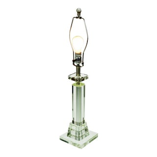 Art Deco Style Lucite Table Lamp