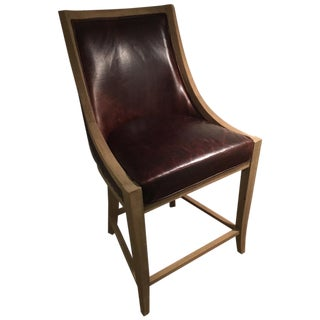 Restoration Hardware French Empire Leather Stool