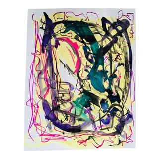 Original Erik Sulander Abstract #32 Ink Brush on Paper