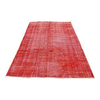 Turkish Red Rug- 5′5″ × 8′6″