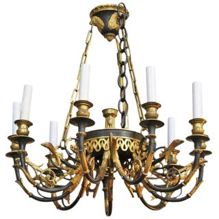 A French 1st Empire Style Bronze Chandelier