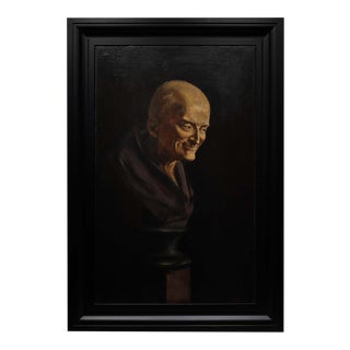 19th Century Oil Painting of Voltaire