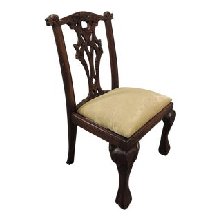 Vintage Carved Wood Children Chair