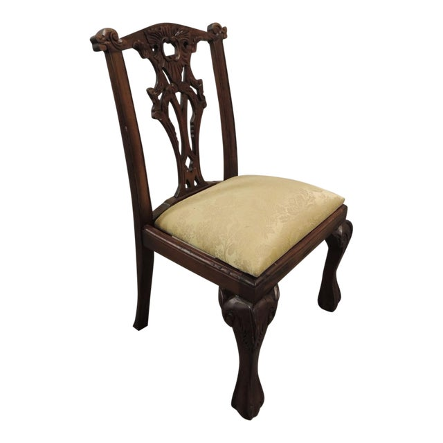 Vintage Carved Wood Children Chair - Image 1 of 5