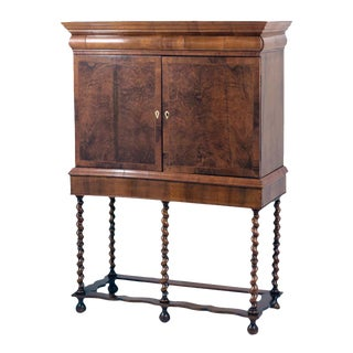 Queen Anne Collectors Cabinet on Stand
