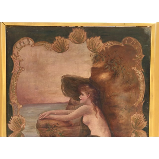 Antique Nude by the Sea Original Painting - Image 4 of 6