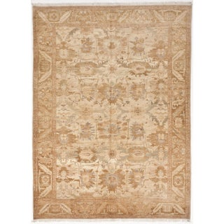 Transitional Hand-Knotted Rug - 10′ × 13′