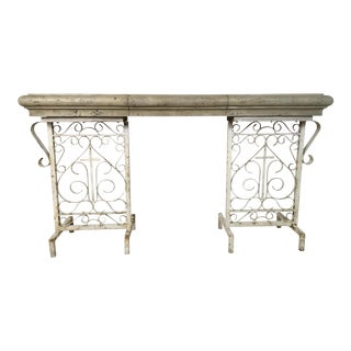 Antique Iron Console Table