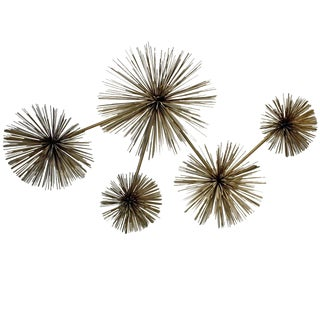 Curtis Jere Pom Pom Sea Urchin Wall Sculpture