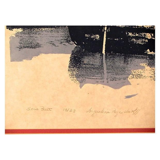 """Slow Boat"" Lithograph - Image 2 of 3"