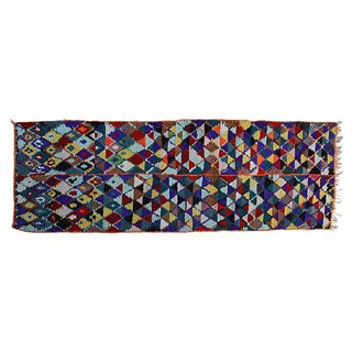 "Multi-Colored Moroccan Runner - 3' 2"" x 10'"