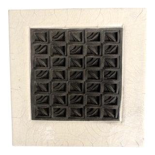 Vintage Geometric Ceramic Wall Hanging