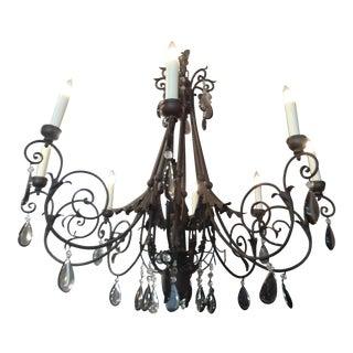 Eight Arm Black Iron Chandelier