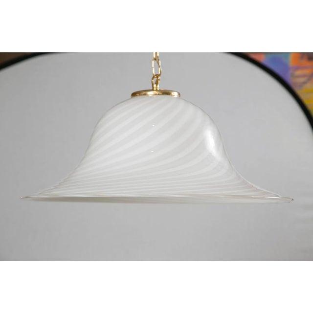 Murano Swirl Glass Dome Pendant Light - Image 2 of 9