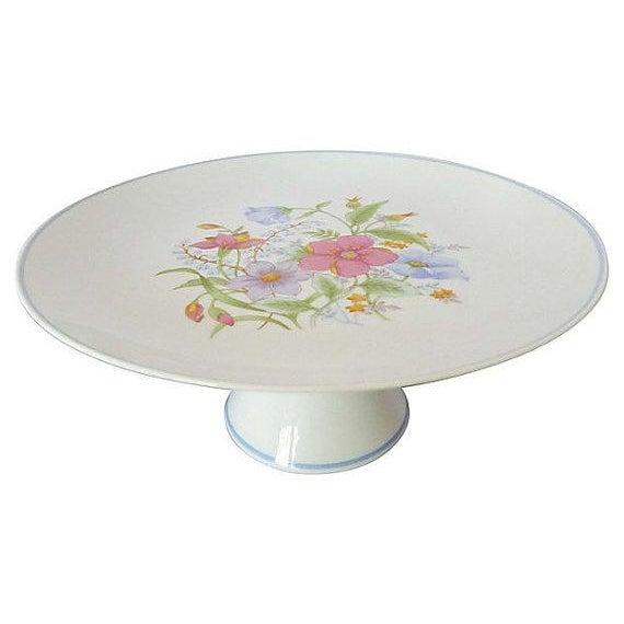 Vintage Floral Cake Set & Serving Knife - Set of 6 - Image 2 of 5