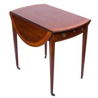 English George III English Mahogany Inlaid Pembroke Table