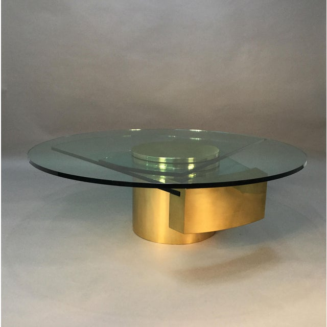 Dakota Jackson Self Winding Brass & Glass Table - Image 7 of 9