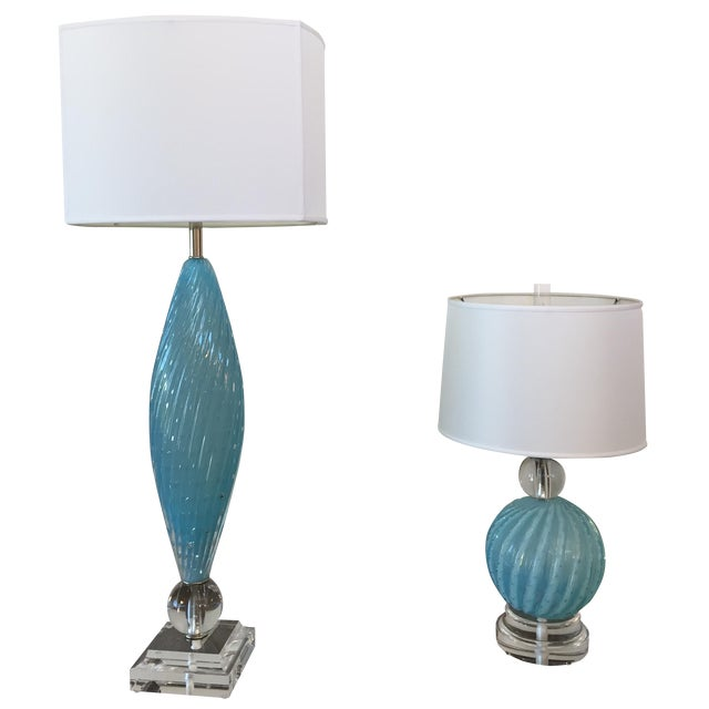 Murano Glass Table Lamps - Image 1 of 10